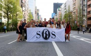 Groepsfoto studiereis Tokyo
